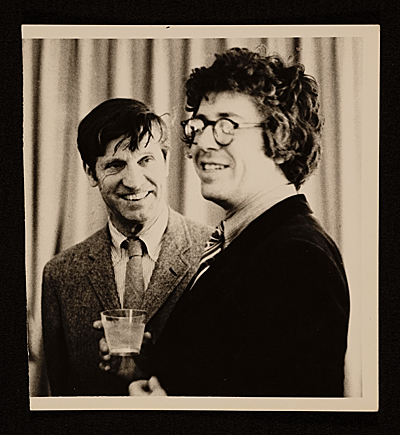 Fairfield Porter with poet Kenneth Koch
