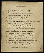 A copy of a John Quincy Adams poem to Hiram Powers