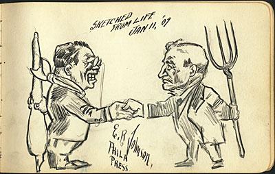[Theodore Roosevelt with Benjamin 'Pitchfork Ben' Tillman]