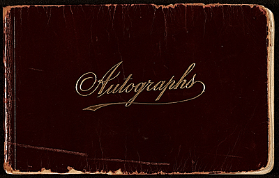 James D. Preston autograph book