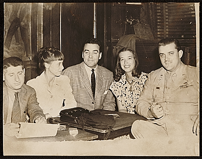 Josef Presser with friends at a cabaret, New York, N.Y.
