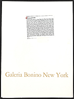 Galeria Bonino holiday card containing a work by Fletcher Chapman Benton titled Miniature synchronetic C 553-OR