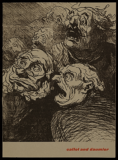 [Jacque Callot and Honore Daumier pamphlet]