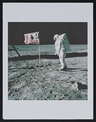 [Inkjet print of Astronaut Buzz Aldrin walking on the moon in 1969]
