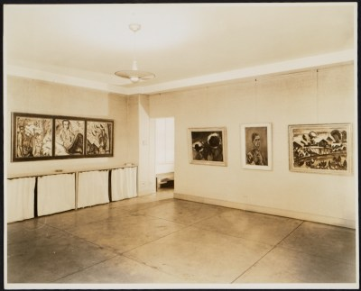 [Installation view of a German Expressionist exhibition at the Curt Valentin Gallery]