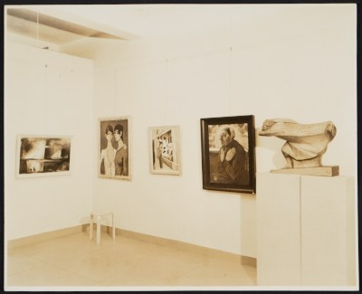 Installation view of a German Expressionist exhibition at the Curt Valentin Gallery