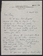 [Charles Parkhurst letter to Perry Rathbone ]