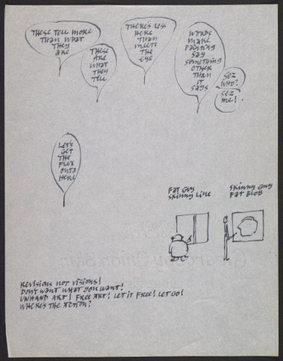Sketch by Ad Reinhardt