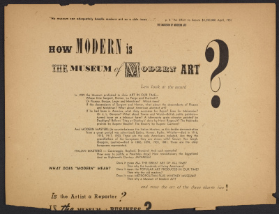 How Modern is The Museum of Modern Art?