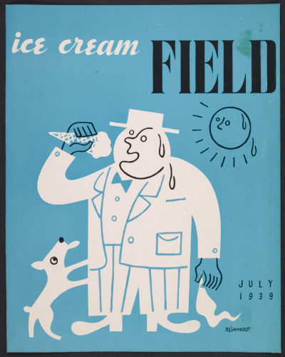 Ad Reinhardt cover of Ice cream field magazine