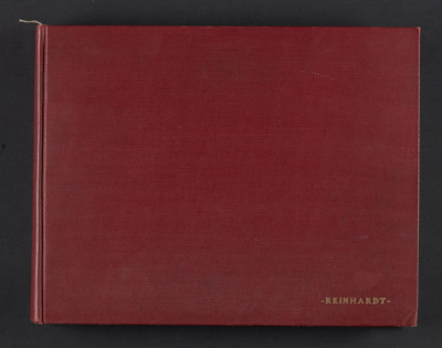 Ad Reinhardts Columbia University scrapbook