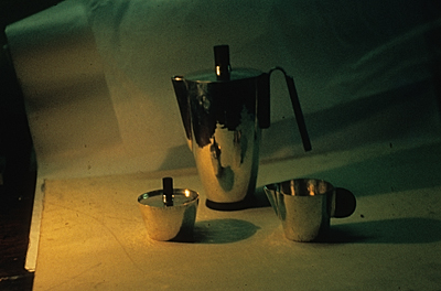 [Ebony coffee set designed by Adda Husted-Andersen]