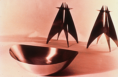 Bronze altar set designed by Arthur Pulos