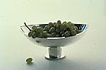 Sterling silver fruit compote designed by Arthur Pulos