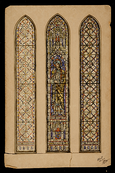 [Study for: Saint James Major, Hilliard Memorial Window at the Calvary Episcopal Church]