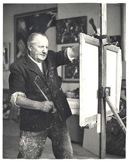 [Hans Hofmann at work in his studio]