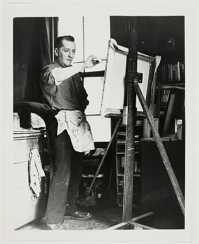 [William Baziotes in his studio, 1952]
