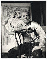 [Willem de Kooning with his work ]
