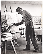 John Marin at work in his studio
