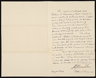 [William Trost Richards to M. Knoedler, New York, N.Y.]