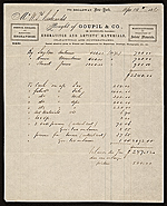 Receipt for items purchased by William Trost Richards