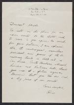 [Rico Lebrun letter to Andrew Carnduff Ritchie 1]