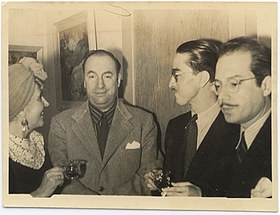 Chilean poet Pablo Neruda and Enrique Riverón
