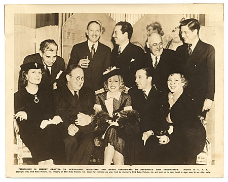 Cocktail Party given by Ginger Rogers at the Waldorf Hotel in New York, 1938 to Foreign Press Correspondents