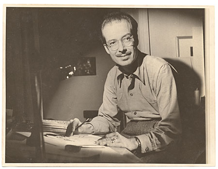 [Enrique Riverón at his desk]