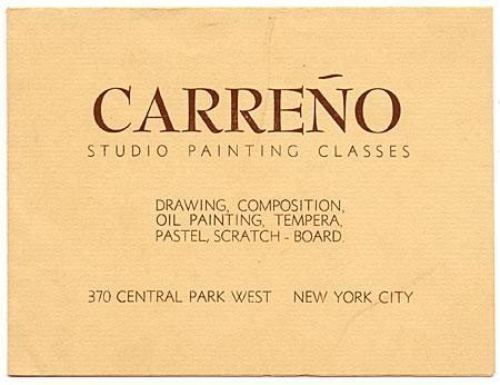 Mario Carreño, New York, N.Y. to Enrique Riverón