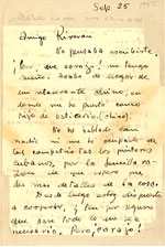 [Julio de Diego to Enrique Riverón page 1]