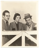 Riverón w/ Jimmy Saro + ? Hollywood 1938