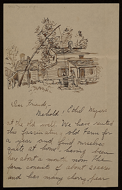 [Ethel May Klink Myers, Carmel, N.Y. letter to Mary Fanton Roberts]
