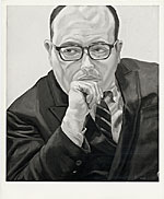 Portrait of Robert Schoelkopf, painted by Phillip Pearlstein in 1968