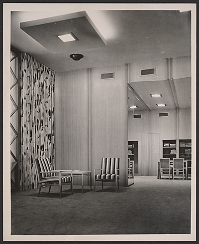 Neiman Marcus fur salon designed by T.H. Robsjohn-Gibbings