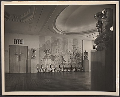 [River Club ballroom designed by T.H. Robsjohn-Gibbings]