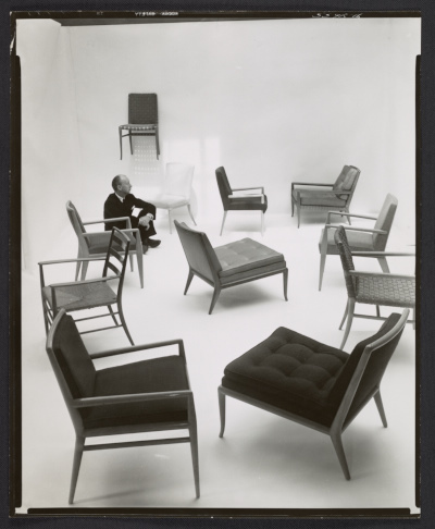 Terence Harold Robsjohn-Gibbings with chairs