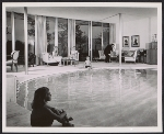 Indoor swimming pool in the residence of Josephine Herbert Graf and Bruno K. Graf, Dallas