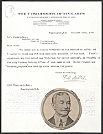 Francis Davis Millet, Washington, D.C. letter to unidentified recipient, Pittsburgh, Pa.