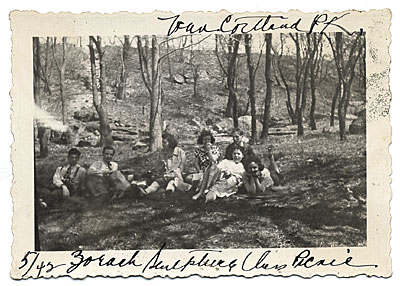 Esther Rolick and group on a picnic
