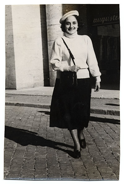 Esther Rolick on the streets of Rome