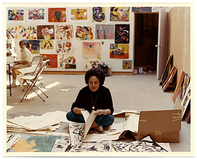 [Esther Rolick in her  studio]