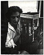 Esther Rolick with her painting