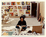 Esther Rolick in her  studio