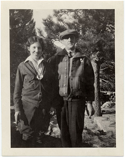 [Louise Rönnebeck and Marsden Hartley in Colorado]