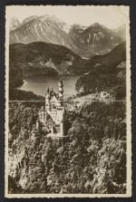 Aerial view of Neuschwanstein Castle in Bavaria, Germany