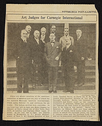 ['Art Judges for Carnegie International']