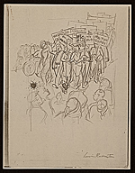 Lewis W. Rubenstein sketchbook of hunger walk to Washington