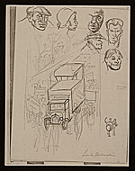 [Lewis W. Rubenstein sketchbook of hunger walk to Washington 1]