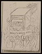 [Lewis W. Rubenstein sketchbook of hunger walk to Washington 3]